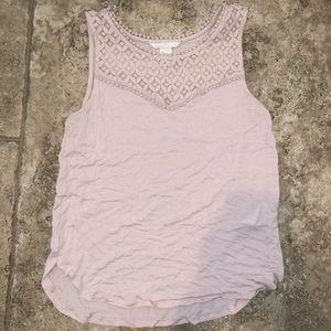 light pink loose tank top